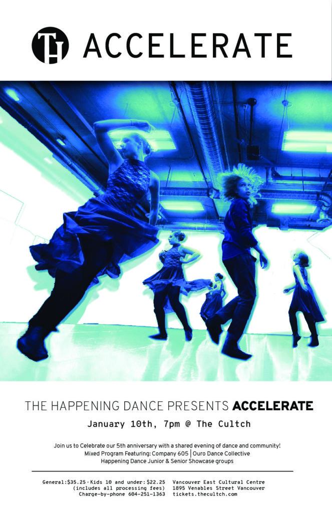 Accelerate at The Cultch Jan 9th!